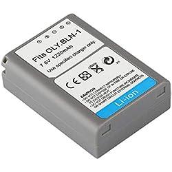 BLN-1 1220MAH 7.6V Batterie Rechargeable Li-ION Batterie pour Appareil Photo numérique Adapté pour Olympus Om-D/E-M5 / EM5 / EM-5 (Couleur: Noir)