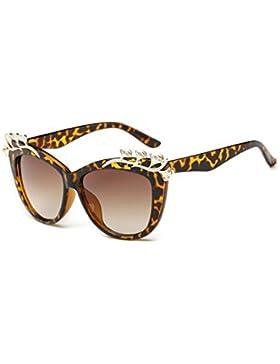 HONEY Gafas De Sol Para Mujer Classic Vintage - Incrustaciones De Diamantes De Imitación - Grandes Gafas De Marco...