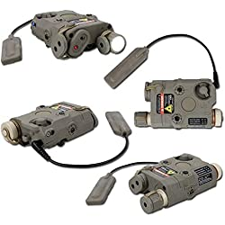 FMA AN-PEQ-15 LED à lumière Blanche + Rouge Laser W/IR Verres TB0067 Dark Terre- ET Laser COMBINÉ Torch