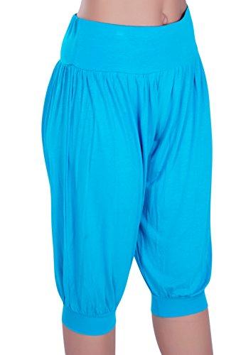 Eyecatch - Sofia Aux Femmes Plus Grande Taille Harem Short Dames Pantalons Tondu Pantalon Turquoise