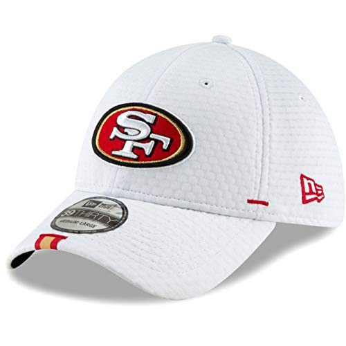New Era - NFL San Francisco 49ers On Field 2019 Training 39Thirty Cap - Weiß Größe L-XL San Francisco Flag