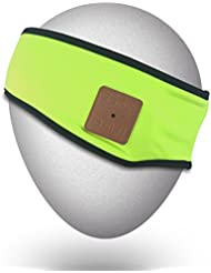 Mydeal deportivo de moda Cintas de pelo de Bluetooth con el auricular inalámbrico con Bluetooth para auriculares altavoces estéreo de micrófono manos libres para Gym Fitness ejercicio Correr Trotar Caminar esquí snowboard, Regalo de navidad - verde
