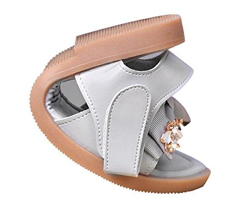 La Vogue Sandale Ballerinechaussure Enfant Bébé Fille Chaussure Danse Nœud Papillon Princesse Été Gris