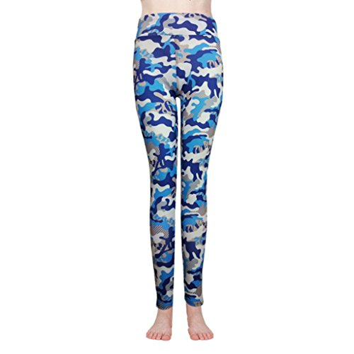 Kinder Camo Hosenträger (Damen Leggings Kanpola für Frauen Camo lange Camouflage Sporthose Yogahose Hose Pants)