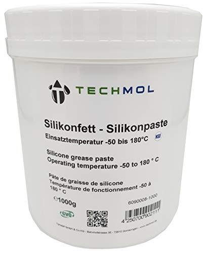 Preisvergleich Produktbild Silikonfett Silikonpaste NSF 1000g Dose 1 Kg