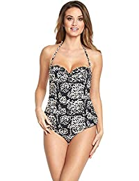 5bb7ce47573 RESORT Ladies Embellished/Beaded Underwired Bandeau Strapless/Halterneck  Tankini Top