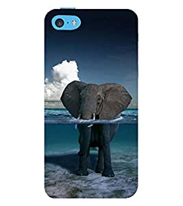 Vizagbeats Elephant in Ocean Back Case Cover for Apple iPhone 5C