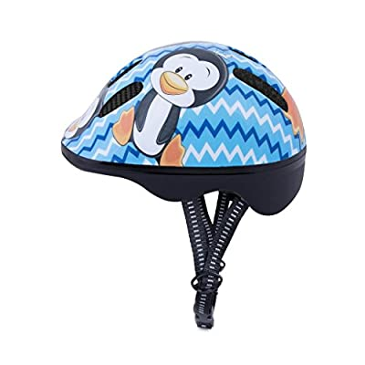 Meteor Baby Kids childrens Boys Cycle Safety Crash Helmet Small size (Penguin, 44-48 cm)
