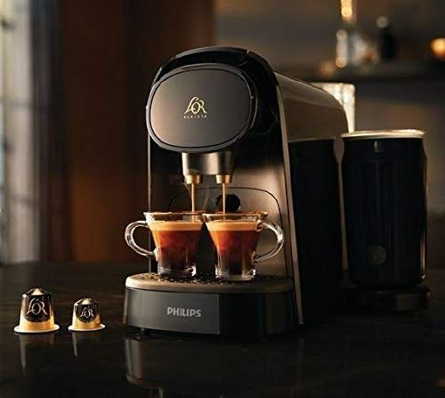 Philips CAFETERA Express LM8014/60 L'OR Barista Latte Negra (Doble CAPSULA)