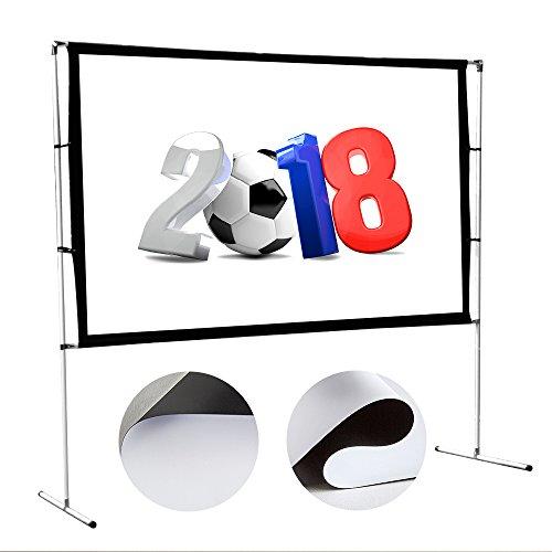 Diagonale 204 cm // 80 Zoll Luxburg/® Beamer Koffer Boden-Leinwand f/ür Heimkino//Gaming//Streaming 170x100 cm FullHD 3D