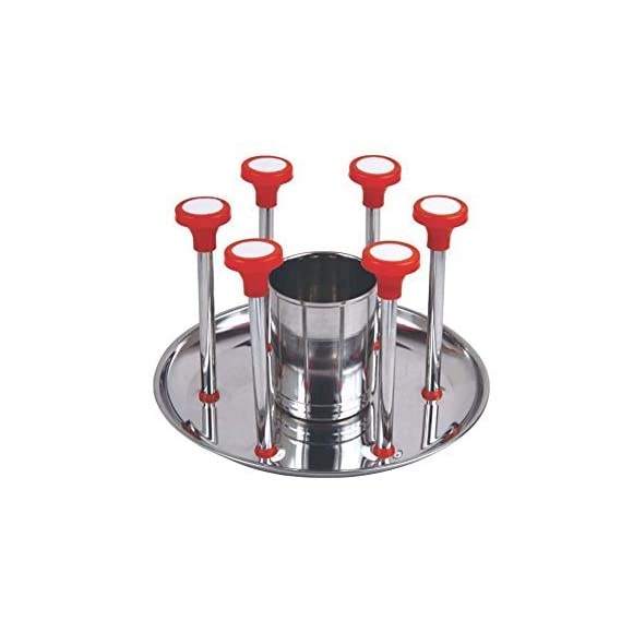 Lucky Box Stainless Steel Glass Stand/Tumbler Holder/Glass Holder for Kitchen/Dining Table