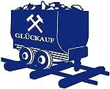 Samunshi® Glück Auf Lore Wandtattoo Gelsenkirchen Bottrop Ruhrpott Ruhrgebiet Schalke Oberhausen in 10 Größen und 19 Farben (110x89cm königsblau)