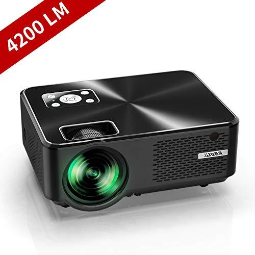 YABER Proiettore 4200 Lumen Mini Proiettore Portatile nativa 1280*720P Supporto 1080P LED Videoproiettore 200' Display Cinema Domestico Iphone, Android, Laptop, PC, Con Tv/Av/Vga/Usb/Hdmi