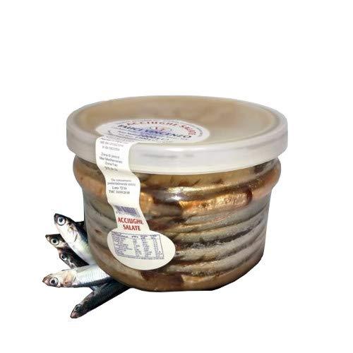 Acciughe salate vasetto da kg 2 alici contenitore in vetro prima scelta