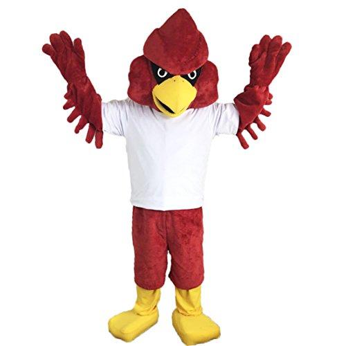 Langteng rot Eagle stark Cartoon Maskottchen Kostüm Echt Bild 15-20Tage - Kostüm Eagle
