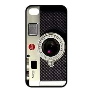 Unique Retro Camera Inspired Soft Rubber Protector Bumper Case Cover for Iphone 4,4s (TPU)