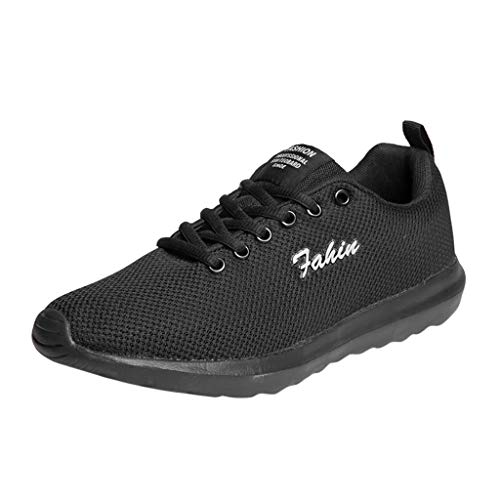 AIni Herren Schuhe 2019 Neuer Heißer Beiläufiges Mode Sale Paar Mode Lässig Laufschuhe Atmungsaktiv Mesh Schuhe Schnürschuhe Freizeitschuhe Partyschuhe (38,Schwarz)