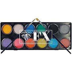 Diamond FX 12 Color Palette - Metallics (10 g) by Diamond FX