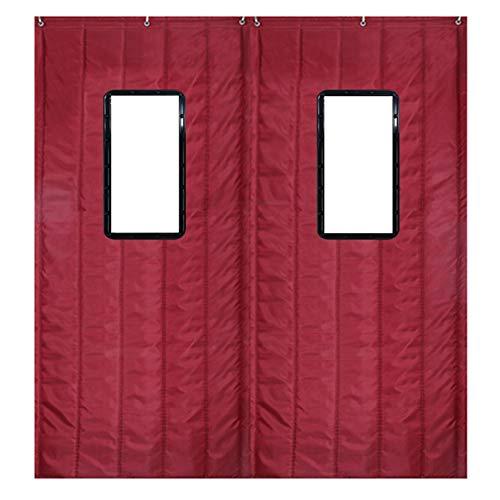 Nclon Rideau de Coton Garder au Chaud Épaissir Ménage Chambre Air Pare-Brise Bruit Protégeant du Vent Rideau Isolant Thermique pour Automne Hiver-100x220cm(39x87inch)