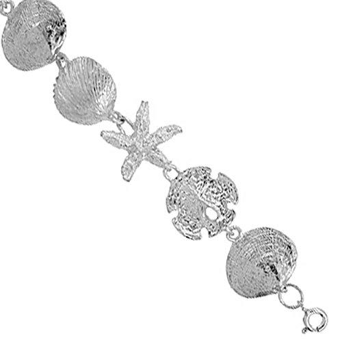 Revoni Sterling Silver Nautical Charm Bracelet