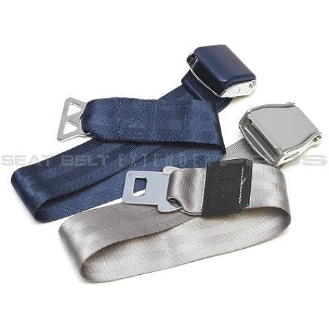 FAA omologato-Aeroplano Seat Belt Extender universale, 2 pezzi, si adatta