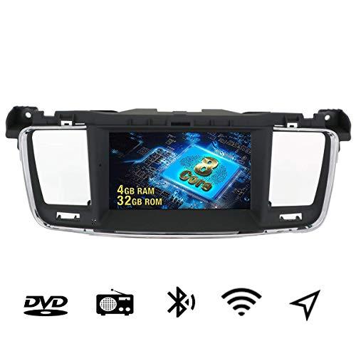 7 pollici Android 9.0 auto Bluetooth stereo navigazione auto doppio Din lettore DVD Car Quad Core per Peugeot 508 2011-2018 Con Europa 49 paese mappatura, Wi-Fi, Bluetooth