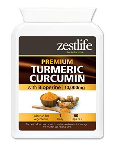 Zestlife Curcumina/Curcumina 60 capsule 500mg estratto equivalente a 10.000mg - un forte antiossidante/aiuta a ridurre l\'infiammazione nel corpo