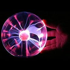 Idea Regalo - Plasma Ball EUGO Sensibile al tocco della sfera del plasma della luce del lampo della sfera magica luce sfera per Feste, Decorazioni, Prop, Bambini, Camera da letto, la casa e da regalo
