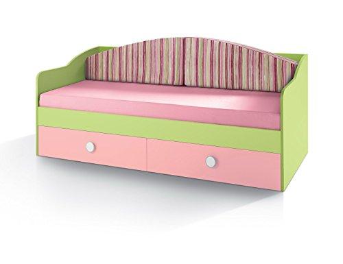 Divano letto per camerette cm L80 - Rete cm 80*190 Verde - Disponibile in vari colori