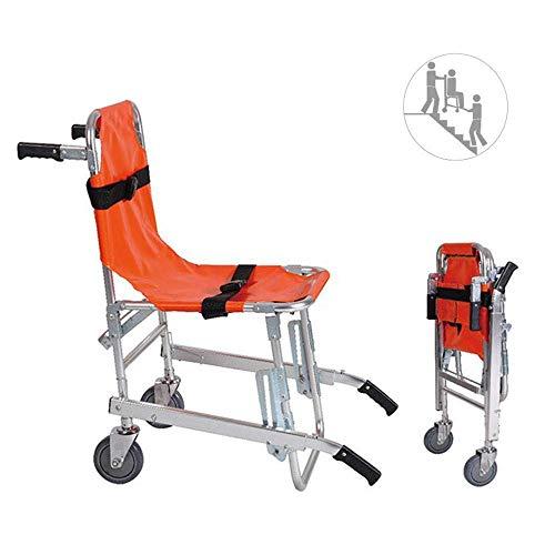 NNBB Stair Chair - Aluminium Leichtgewichtler Ambulance Feuerwehrmann Evakuierung Medizinischer Aufzug Treppen Stuhl mit Schnellverschlüssen