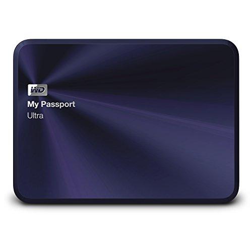 WD My Passport Ultra Metal Edition 2TB blau-schwarz Premium Aufbewahrung mit Stil-USB 3.0-Tragbar - (Wd My Passport Ultra Metal 2tb)