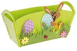 Idena Panier cadeau en feutrine spécial Pâques Motif lapin