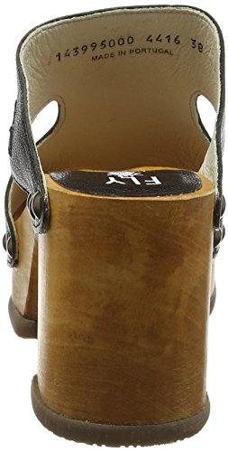 FLY London Rhia995, Sandales Bout Ouvert Femme Noir (Black 000)