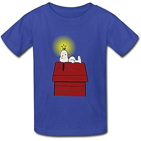 Anime feliz Navidad Cacahuetes Snoopys Kids jóvenes niños niñas T camiseta negro