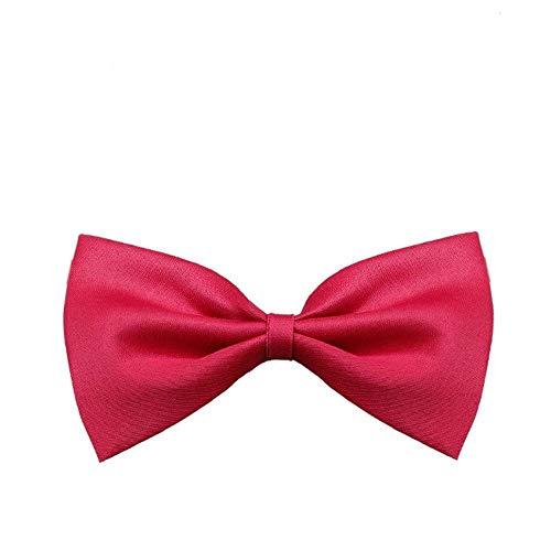 EROSPA® Fliege Hunde-Halsband Katze Welpe Haustiere Krawatte Bowknot Halsschleife 4 Farben Pink Schwarz Blau Magenta (Rot) -