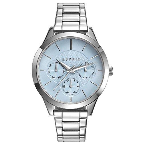 ESPRIT Damen Chronograph Quarz Smart Watch Armbanduhr mit Edelstahl Armband ES109622001