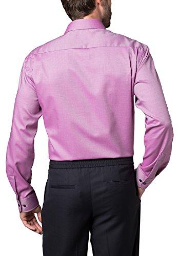 ETERNA Langarm Hemd COMFORT FIT Twill strukturiert Rot