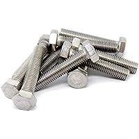 Tornillos hexagonales M12 (12 mm x 60 mm) (rosca completa) – acero inoxidable (A2) (Pack de 10)