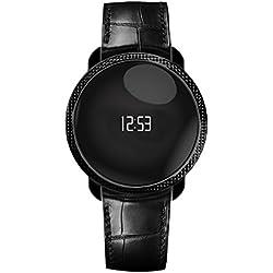 MyKronoz ZeCircle Premium Embossed - Pulsera de actividad y sueño con notificaciones, color negro