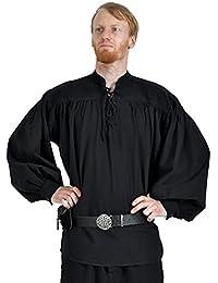 Adalbert Chemise médiévale à lacets noir
