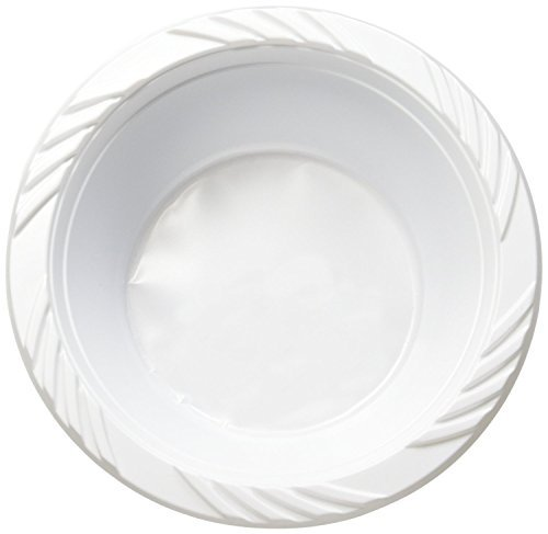 White 12 oz. Plastic Bowls(styles may vary) (125) by Blue Sky