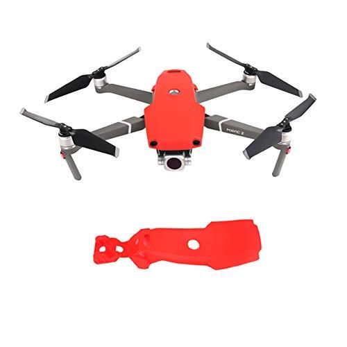 Goyajun Silikon Schützend Abdeckung SchutzEtuiAnti Schock Guard Rumpf Cover Case Zubehörteil für DJI Mavic 2 Pro/Mavic 2 Zoom Drone (Rot) -