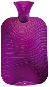 Fashy Double Ribbed Hot Water Bottle Purple 2.0L