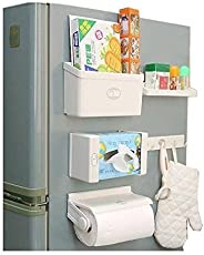 Dewberries® Refrigerator Storage Rack 5 in 1 Magnetic Tissue Paper Roll Holder