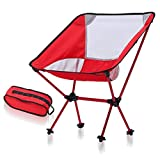 GOODLQ Tragbare Leichtbau-Falten Camping-Stühle, Ultralight Compact Backpacking Chair Mit Carry Bag Für Outdoor, Sport, Angeln, Wandern Heavy Duty 350 Lbs,4