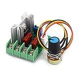 Akozon Elektrischer Spannungsregler Modul AC 50-220 V 2000 Watt SCR Temperatur/Motor Drehzahlregler Steuerung der Helligkeit Licht Dimmer Geschwindigkeit oder Temperatur