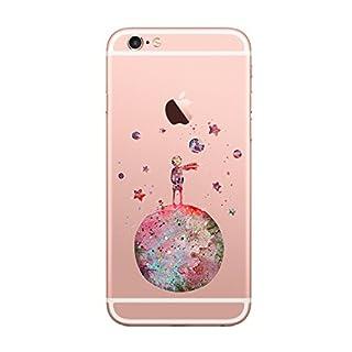Caler iPhone 6 6S Hülle Schutzhülle handyhüllen Weiche Flexible Silikon-Handy-Hülle Transparente Ultra Slim TPU Dünne stoßfeste Motiv Tasche Qualität Cover Smartphone iPhone 6 6S Case (der kleine Prinz)