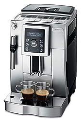 De'Longhi ECAM 23.420.SB - Kaffeevollautomat mit Milchaufschäumdüse, Digitaldisplay mit Klartext, 2-Tassen-Funktion, großr 1,8 l Wassertank, 35,4 x 23,8 x 43 cm, silber/schwarz