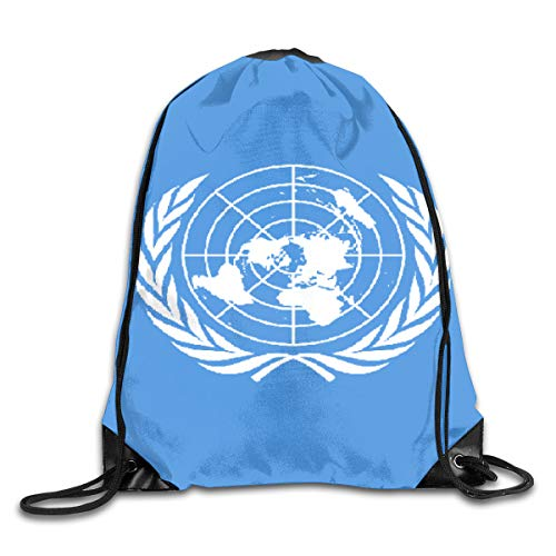 Drawstring Backpack Bags Flag of The United Nations Sport Athletic Gym Sackpack for Men Women (Nations-flag United)