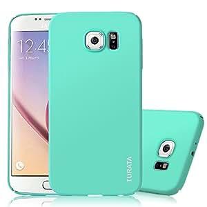Samsung Galaxy S6 Case – TURATA Ultra dünne Hartplastik PC Minzgrün Schutzhülle Premium Beschichtete Rutschfeste Oberfläche für Samsung Galaxy S6